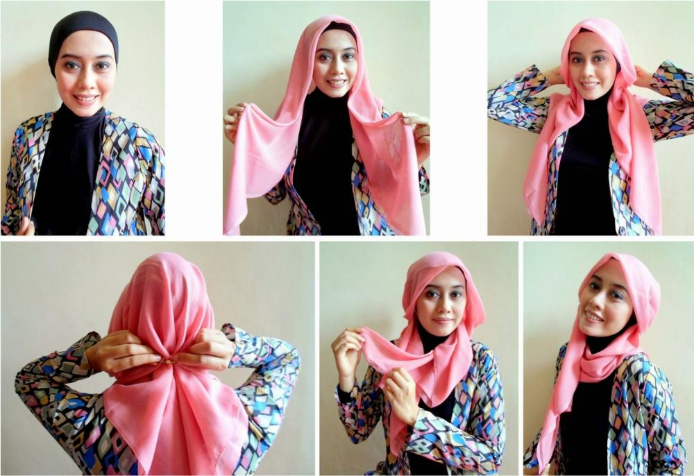 Tutorial Hijab Simple untuk pesta 2